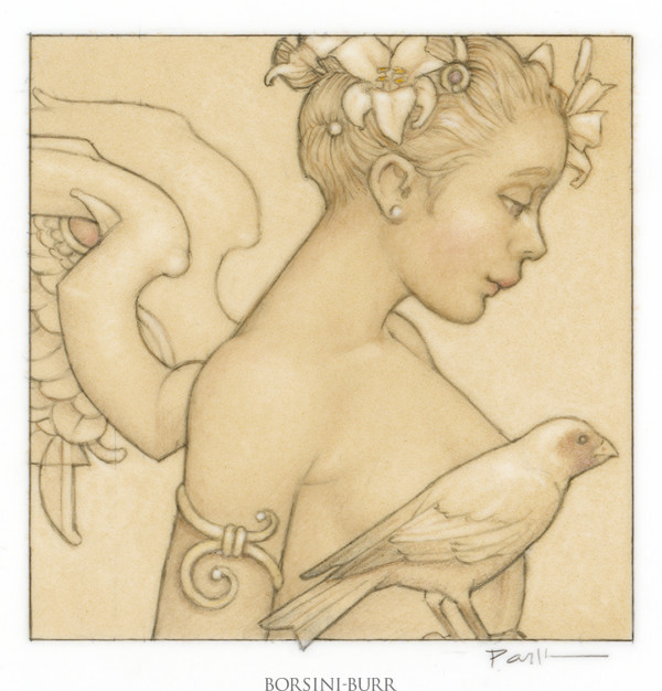 """""""Jewel - Angel with Bird"""" Fine Art Edition on Paper by Michael Parkes"""