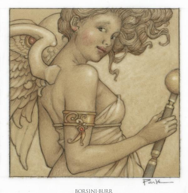 """Cheeky Angel"" Original Drawing by Michael Parkes"
