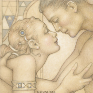 """""""First Embrace"""" Fine Art Edition on Canvas by Michael Parkes"""