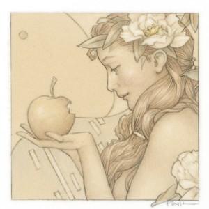 """Jewel - Golden Fruit"" Fine Art Edition on Paper by Michael Parkes"