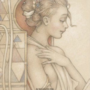 """""""Jewel - Reflections"""" Fine Art Edition on Paper by Michael Parkes"""