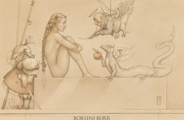 """Eden Project"" Original Drawing by Michael Parkes"