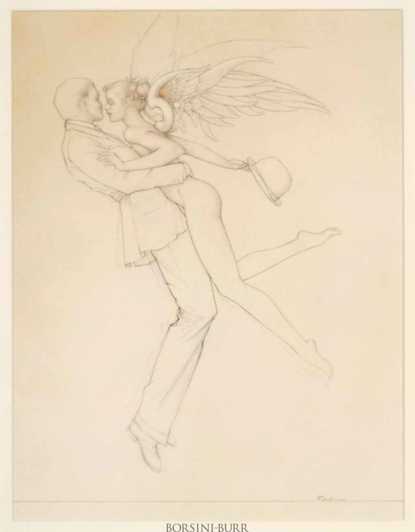 """Angel Affair"" Original Sketch by Michael Parkes"