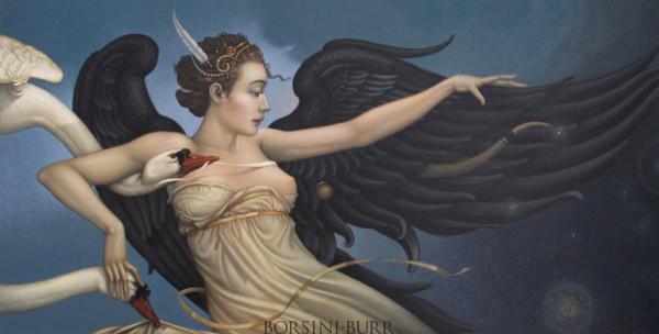 """Nightfall"" Original Oil on Canvas by Michael Parkes"