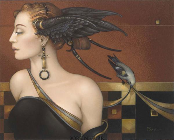 """""""Black Orchid"""" Original Oil on Canvas by Michael Parkes"""
