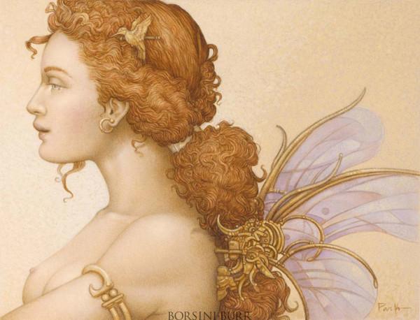 """Gossamer Wings"" Original Oil on Canvas by Michael Parkes"