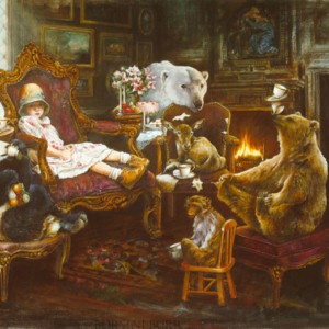 """Tea Party"" Fine Art Edition on Canvas by Lori Preusch"