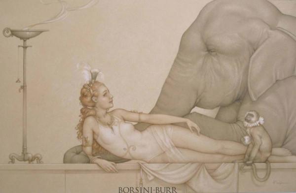 """Circus Girl"" Original Drawing by Michael Parkes"