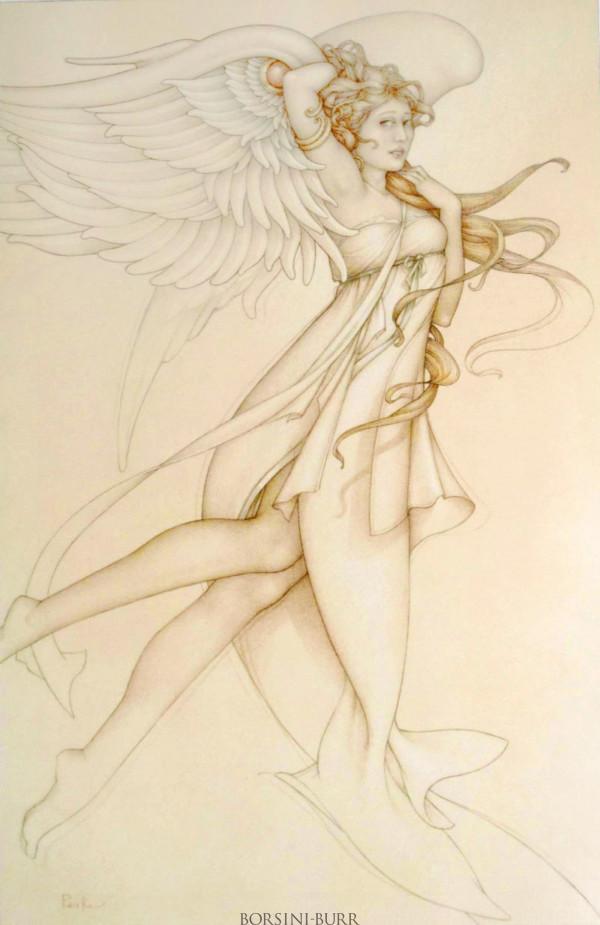 """Farnese Flora"" Original Drawing by Michael Parkes"