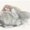 """Undine"" Original Drawing by Kinuko Y. Craft"