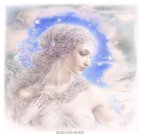 """Aphrodite"" Original Drawing by Kinuko Y. Craft"