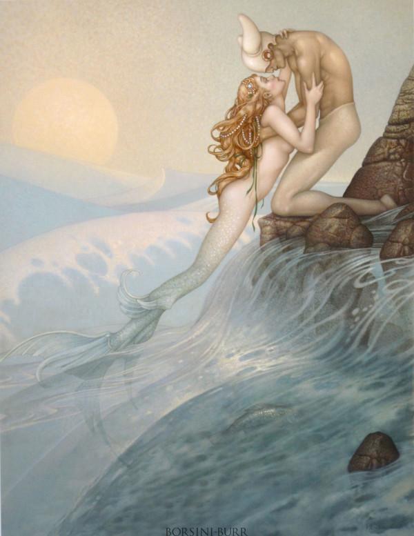 """La Sirene"" Original Oil on Canvas by Michael Parkes"