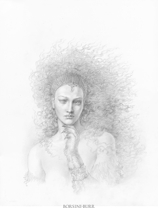 """""""Sphinx"""" Original Drawing by Kinuko Y. Craft"""