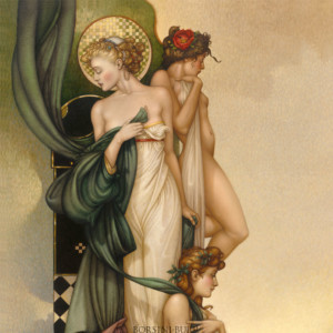 """Three Graces"" Fine Art Edition on Canvas by Michael Parkes"
