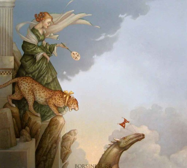 """""""Fearless"""" Original Oil on Canvas by Michael Parkes"""