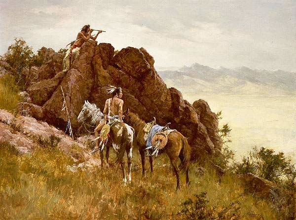 """""""Far Seeing Glass"""" Fine Art Edition on Canvas by Howard Terpning"""