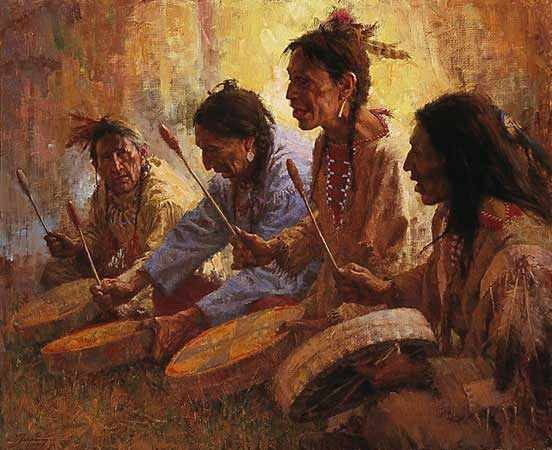 Four Sacred Drummers–1992
