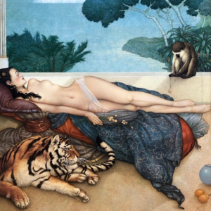 """""""""""Going Nowhere 2020"""" Original Oil on Canvas by Michael Parkes"""