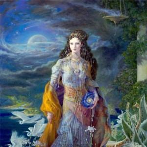 """""""Goddess of the Universe"""" Fine Art Edition on Canvas by Kinuko Y. Craft"""