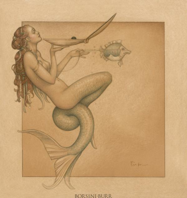 """Mermaid"" Fine Art Edition on Paper by Michael Parkes"