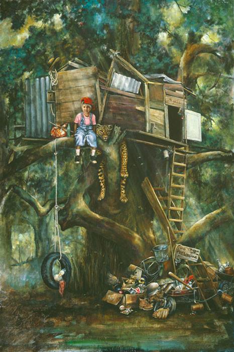 """""""Hideaway"""" Fine Art Edition on Canvas by Lori Preusch"""
