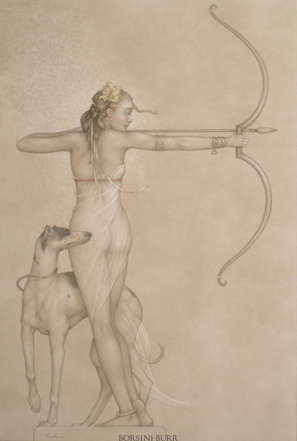"""Dianna"" Original Drawing by Michael Parkes"