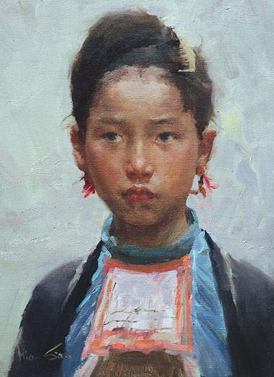"""Miao Beauty"" Fine Art Edition on Canvas by Mian Situ"