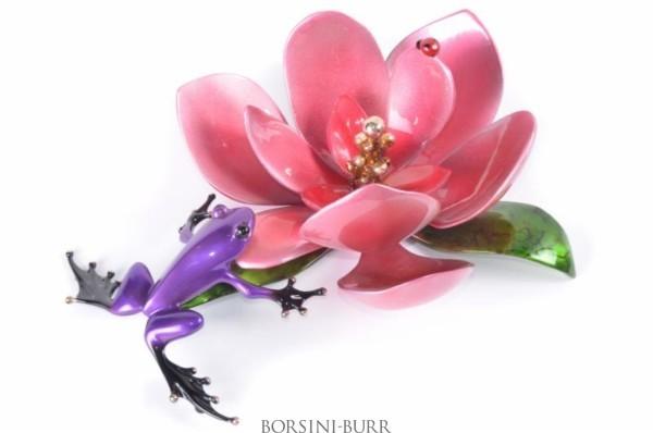 """Magnolia"" Bronze Sculpture by Tim Cotterill ""Frogman"""