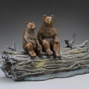 """""""Moonlighters"""" Bronze Sculpture by Robert Bissell"""
