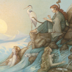 """""""Morning Song"""" Fine Art Edition on Canvas by Michael Parkes"""