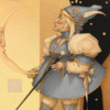 """Moon Minders """"New Moon"""" Original Oil on Canvas by Michael Parkes"""