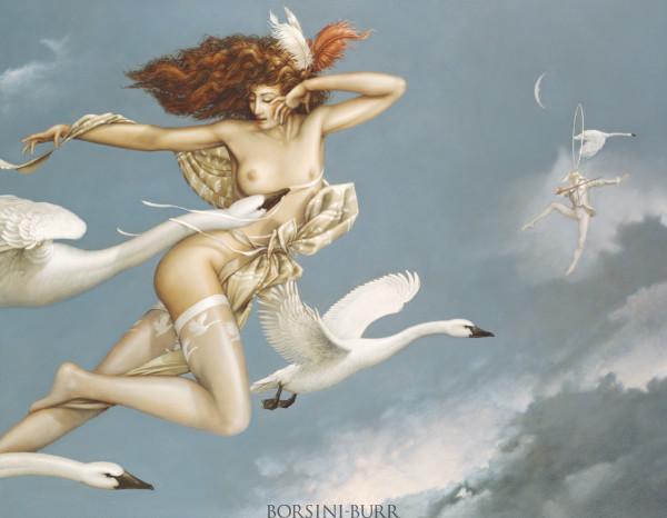 """Night Flight"" Fine Art Edition on Canvas by Michael Parkes"