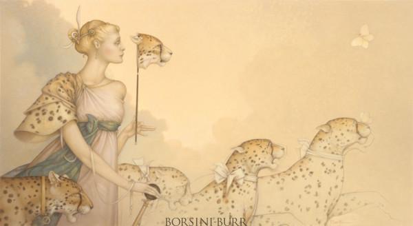 """Five Cheetahs"" Fine Art Edition on Canvas by Michael Parkes"