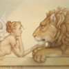 """Gold"" Original Oil on Canvas by Michael Parkes"