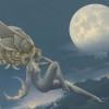 """Moonstruck"" Original Oil on Canvas by Michael Parkes"