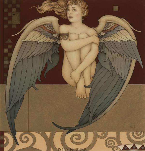 """Shy Angel"" Original Oil on Canvas by Michael Parkes"