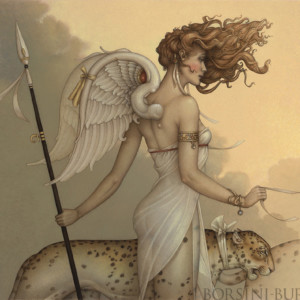 """""""Three Leopards"""" Fine Art Edition on Canvas by Michael Parkes"""