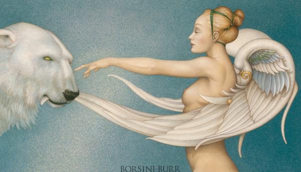 """Polar Wings"" Original Oil on Canvas by Michael Parkes"