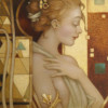 """Reflection"" Original Oil on Canvas by Michael Parkes"