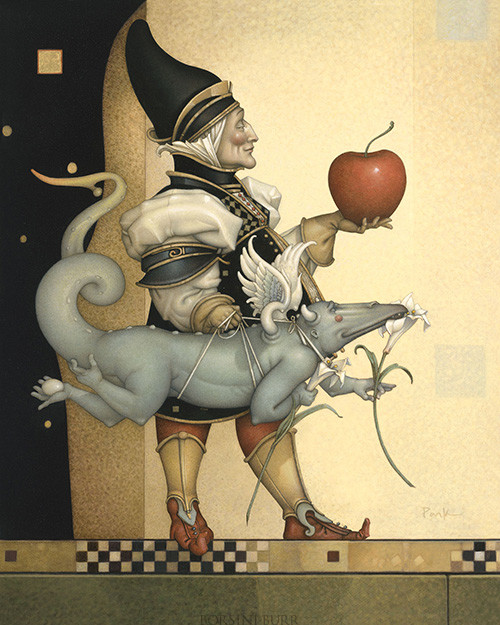 """""""Dragon Collector"""" Fine Art Edition on Canvas by Michael Parkes"""