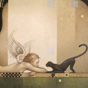 """""""See No Evil"""" Fine Art Edition on Canvas by Michael Parkes"""