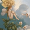 """""""Shade of the Rose"""" Original Oil on Canvas by Michael Parkes"""