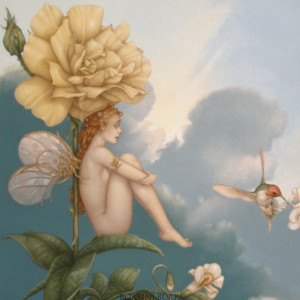 """""""Shade of the Rose"""" Fine Art Edition on Canvas by Michael Parkes"""