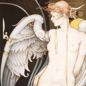 """""""Watching Time"""" Stone Lithograph by Michael Parkes"""