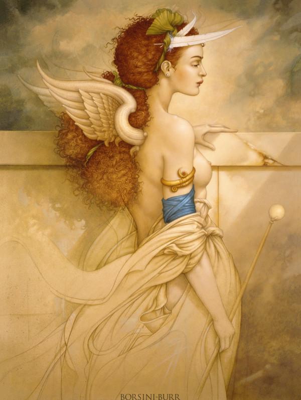 """Sophia Rose"" Original Oil on Canvas by Michael Parkes"
