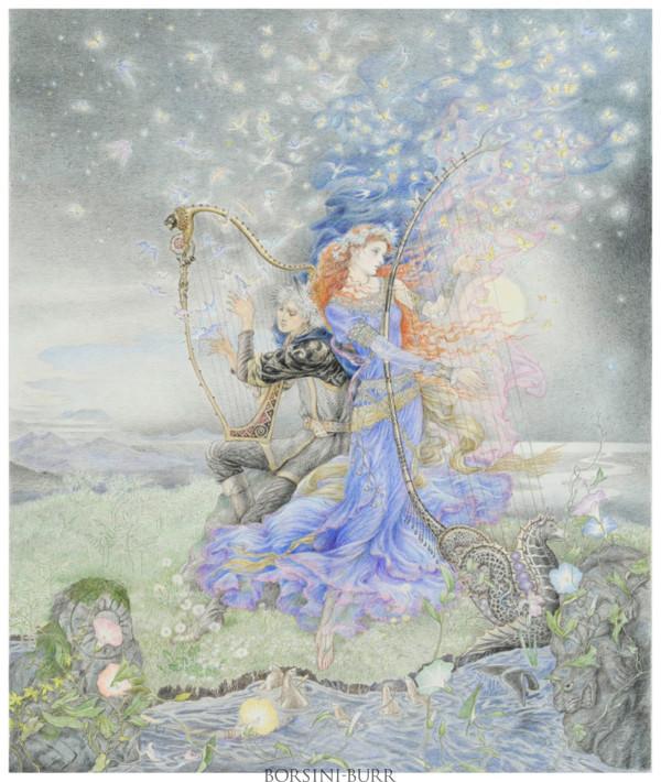 """Spirit Guides"" Original Drawing by Kinuko Y. Craft"