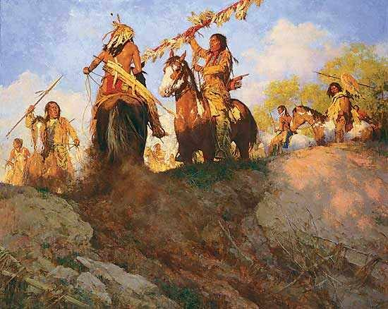 """""""Sunset for the Comanche"""" Fine Art Edition on Canvas by Howard Terpning"""