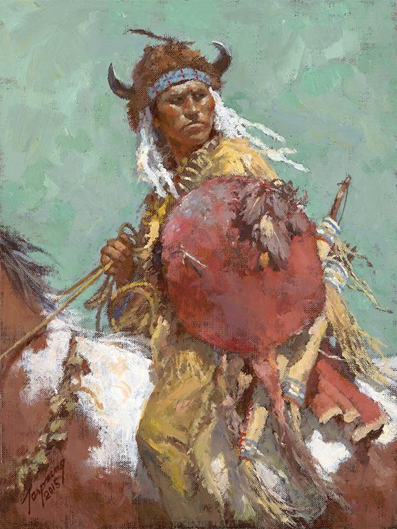 """Cheyenne Red Shield"" Fine Art Edition on Canvas by Howard Terpning"