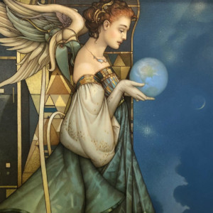 """""""Guardian"""" Fine Art on Canvas by Michael Parkes"""
