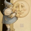 """Moon Minders """"Full Moon"""" Fine Art Edition on Canvas by Michael Parkes"""